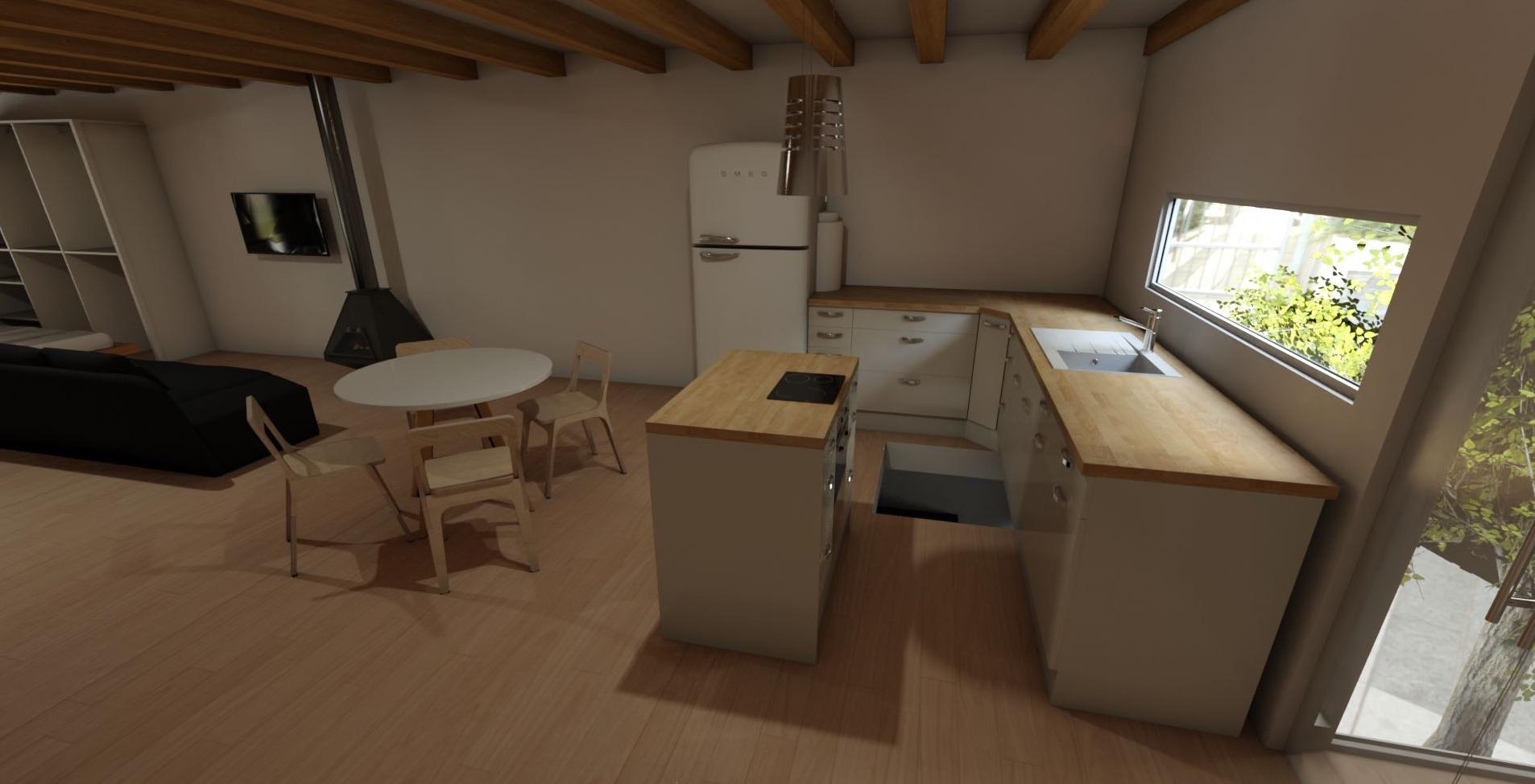 Pisoft 3D cocina